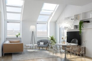 Hübscheste Dachwohnung Wiens mit 4,40 m RH. Ein schickes Objekt für Anspruchsvolle.