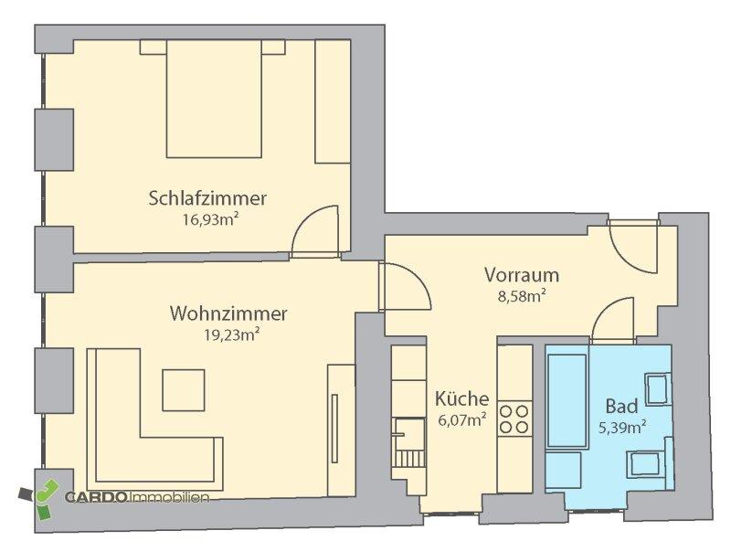 Moderne Pärchenwohnung mit guter Anbindung /  / 1160Wien / Bild 9