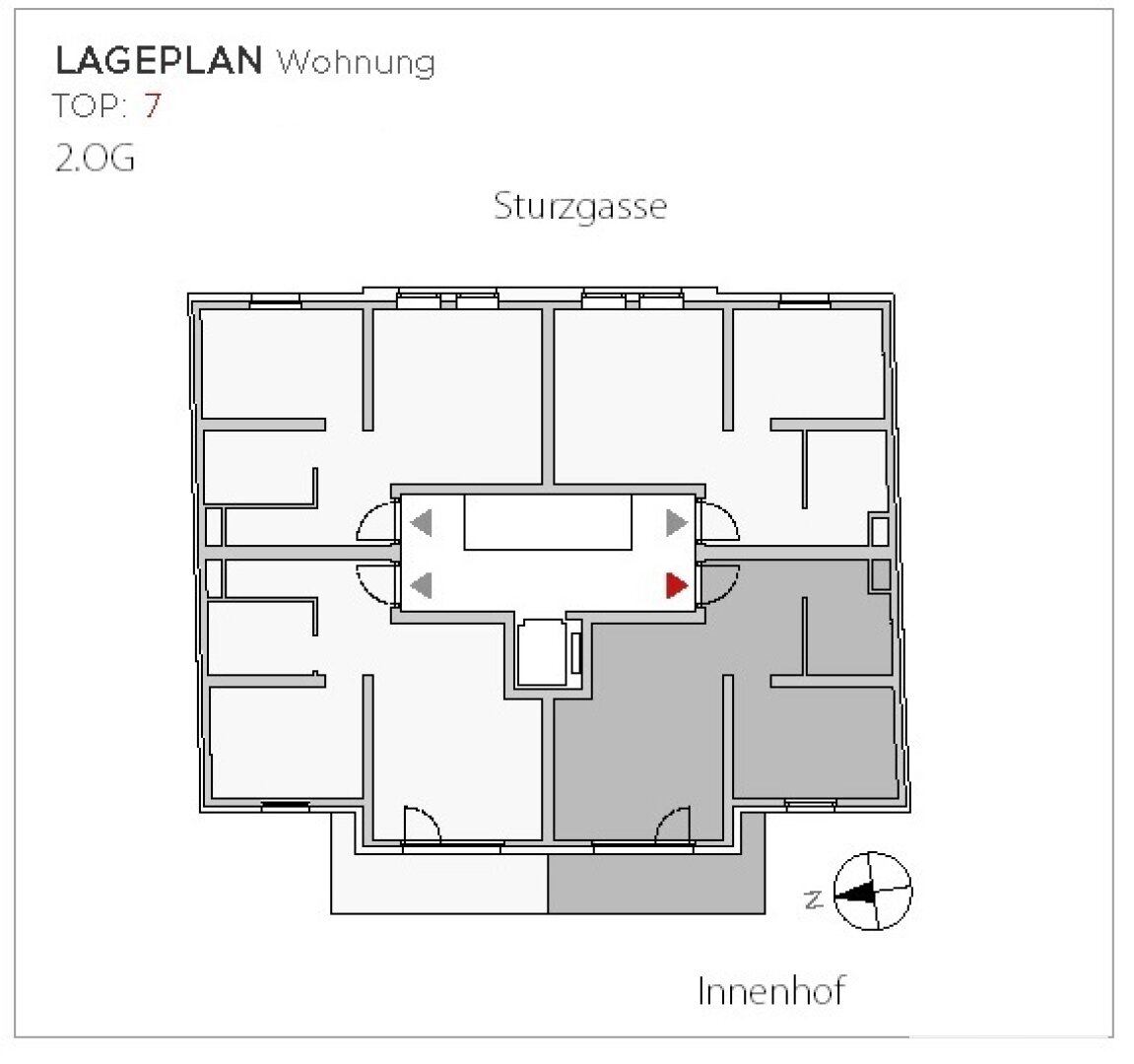 Lage der Wohnung im Haus