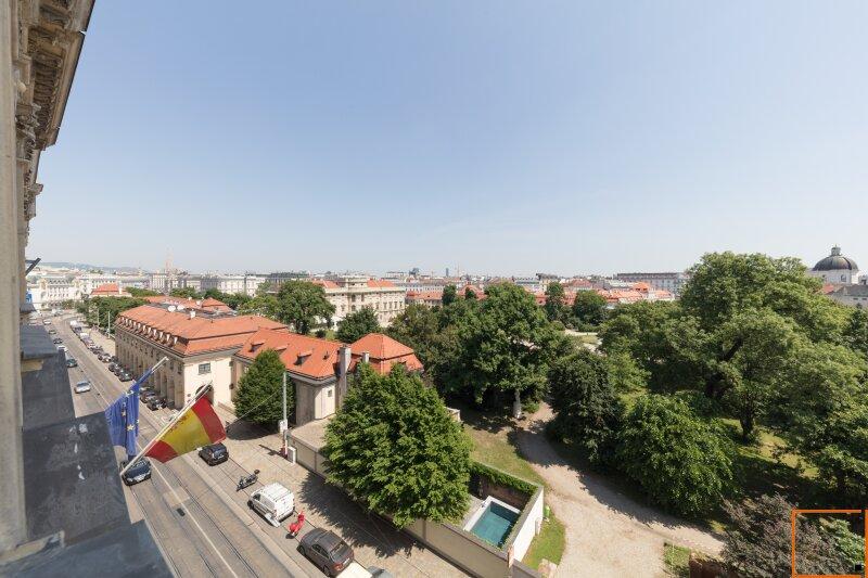 Botschaftsviertel - klimatisierte Altbauwohnung mit Blick in den Park des Palais Schwarzenberg /  / 1040Wien / Bild 2