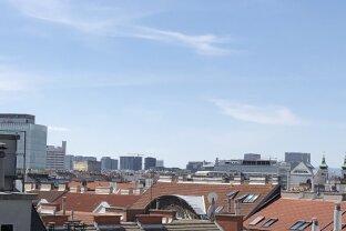 Große Terrasse mit Rundumblick und 3 Zimmer im obersten Stock eines renovierten Jugendstilhaus