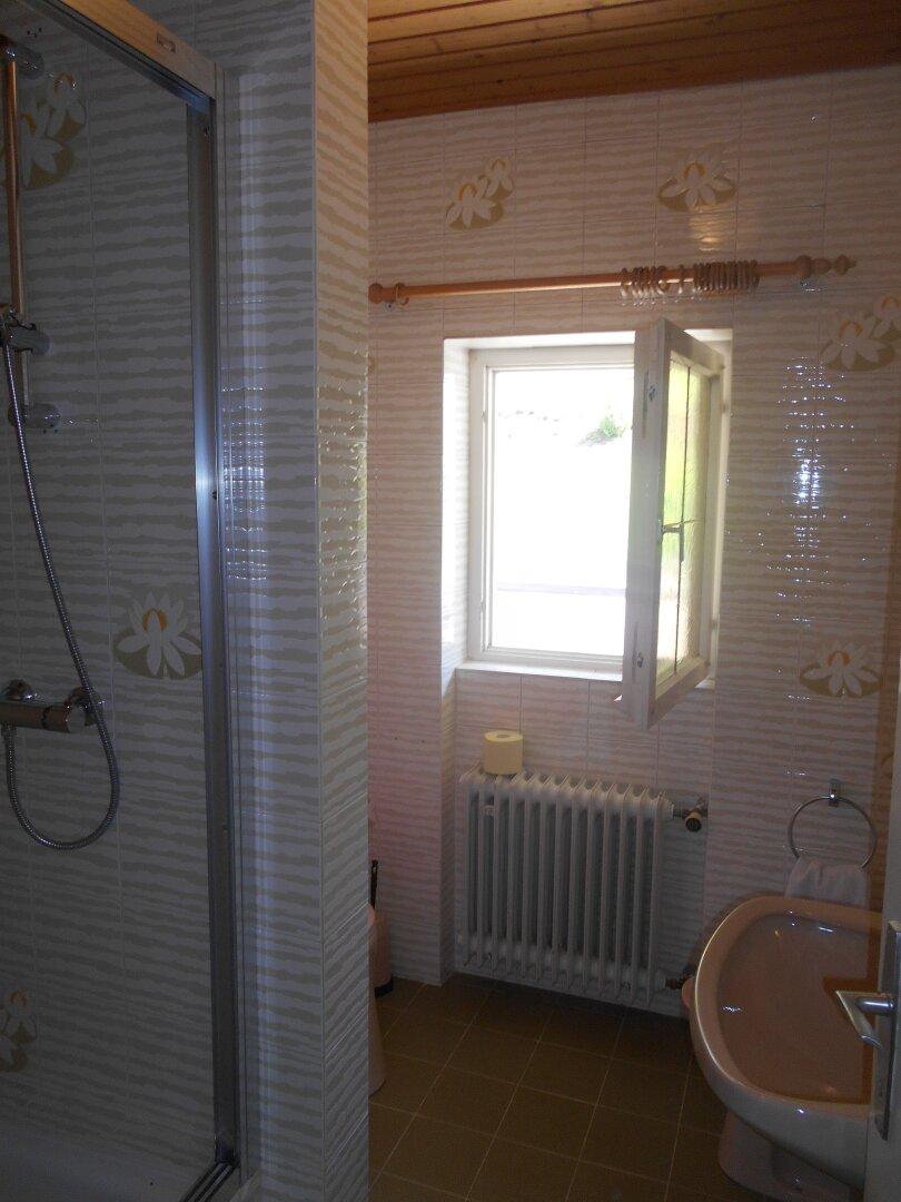 Tageslichtbad mit WC und Dusche im EG