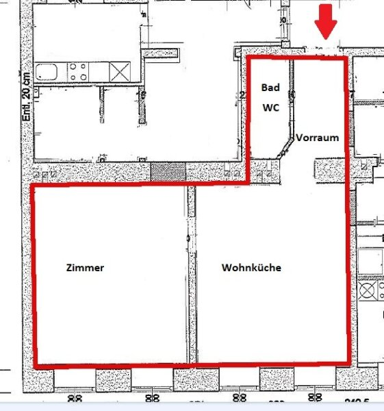 RUHIGE Seitengasse - 2 Zimmer Wohnung - Nähe Rennweg - Lift /  / 1030Wien / Bild 5