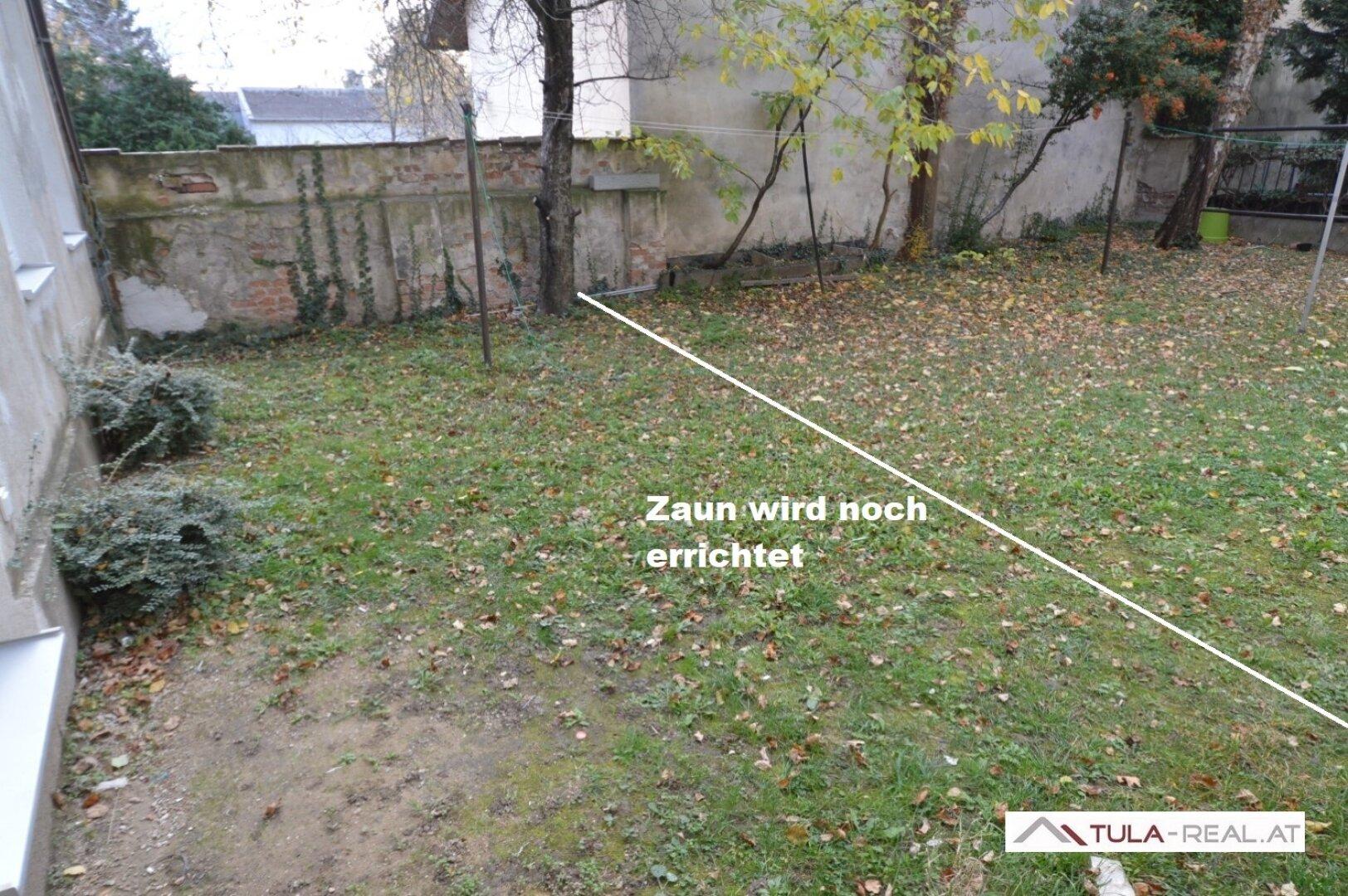 privater Gartenanteil (Zaun wird noch errichtet)