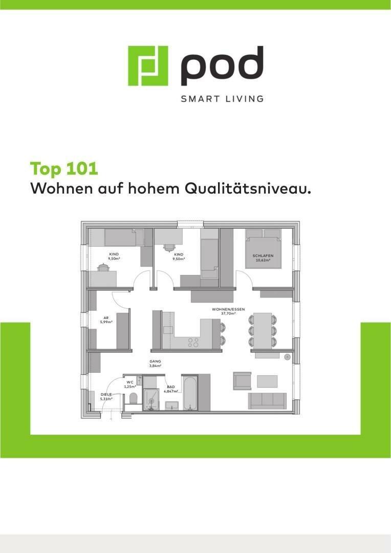 Wohnungsplan Top 101