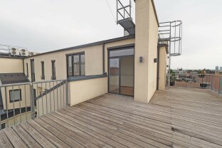 exklusive 4-Zimmer-Dachgeschoß-Maisonette mit 70 m² Terrassenfläche  beim Belvedere