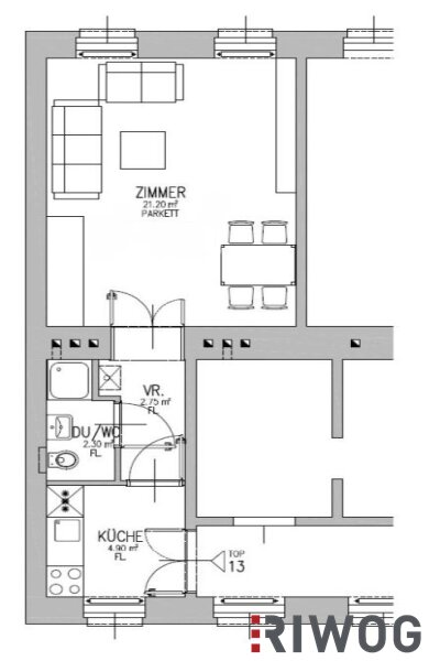 ** 1-Zimmer Erstbezug in absoluter RUHELAGE ** Top-Ausstattung und Blick ins Grüne /  / 1200Wien / Bild 3