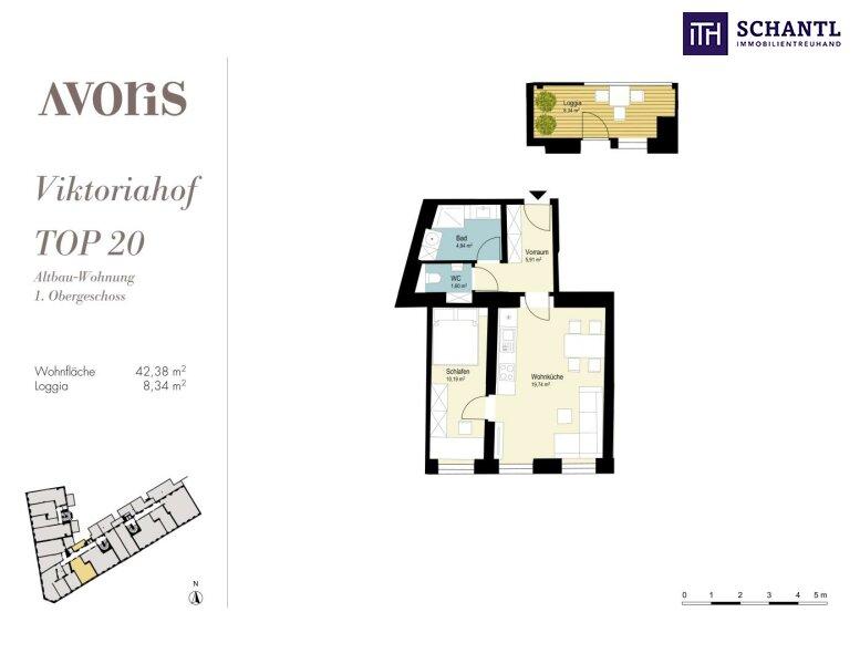 Perfekte 2-Zimmer Wohnung mit Loggia! Großer grüner Innenhof + Rundum saniertes Haus + Perfekte Infrastruktur! /  / 1150Wien / Bild 18