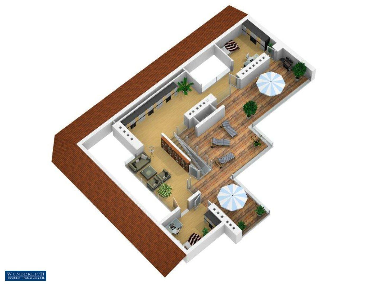 3D-Visualisierung Terrassengeschoss
