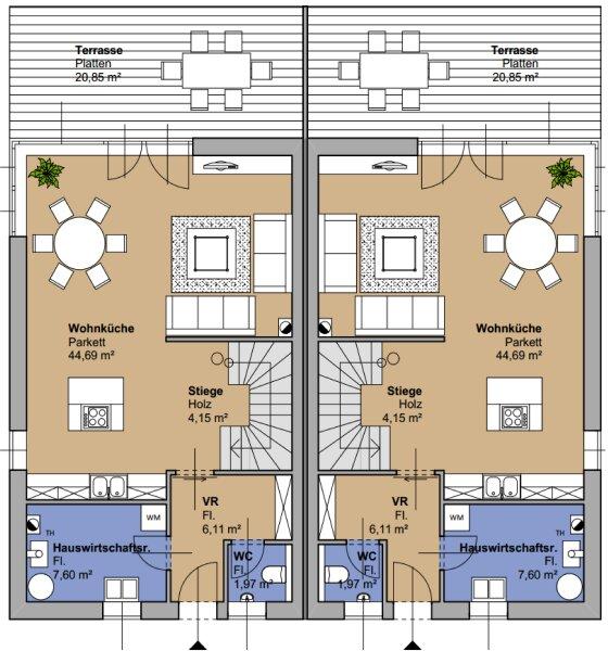 ++NEU** wunderschöne Doppelhaushälfte 30km von Wien entfernt! schlüsselfertig! sehr hochwertige Ausstattung! PROVISIONSRABATT! /  / 2231Strasshof an der Nordbahn / Bild 19