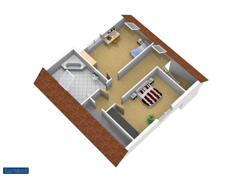 3D-Ansicht 2 Änderungsvorschlag Dachgeschoß