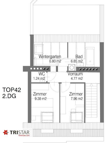 Hochwertig errichtete 3,5 Zimmer-DG-Maisonette mit Wintergarten, Terrasse und fantastischem Wienblick! /  / 1100Wien / Bild 0