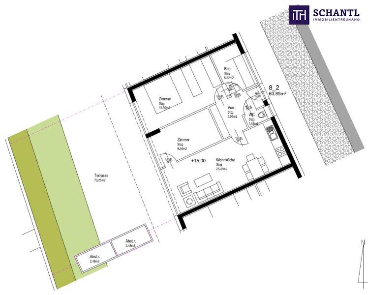 FANTASTISCH! ENDLICH GEFUNDEN!  Erstbezugs  Terrassenwohnung 60m² mit 70m² SONNENTERRASSE im grünen Bezirk St. Peter. /  / 8042Graz / Bild 5