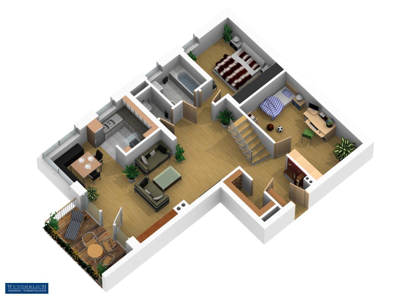 3D-Ansicht 1 - 1. Ebene