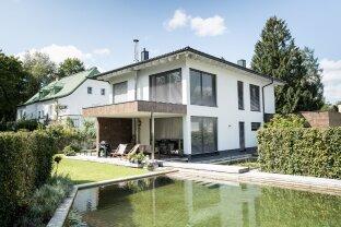 Salzburg Nonntal - Niedrigenergie-Architektenhaus mit Garten & Schwimmteich