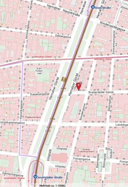 8. Bezirk Nähe U6: NEUBAU 7. Liftstock, WESTFERNBLICK, Küche mit Essplatz /  / 1080Wien / Bild 4