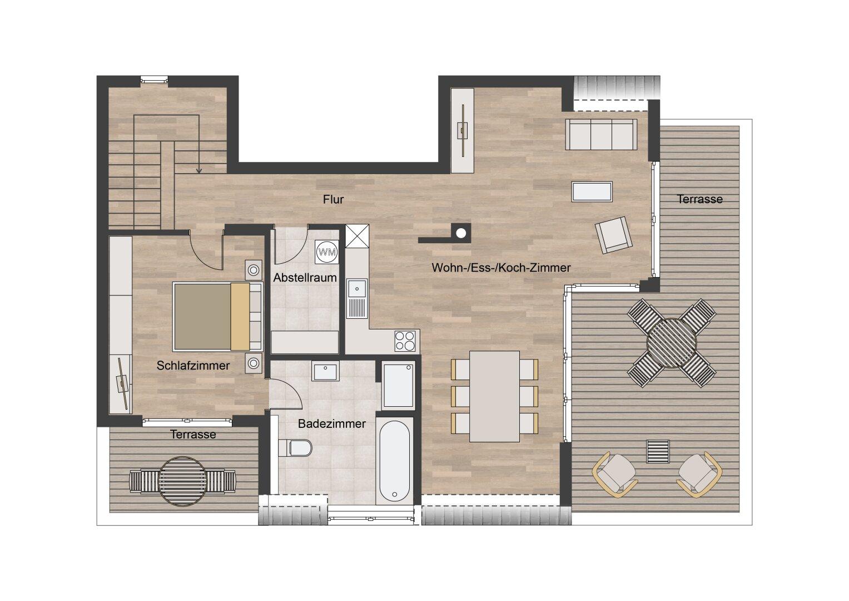2 D Grundriss Dachgeschoss
