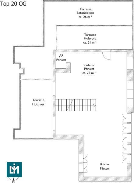 DG-Maisonette mit großer Terrasse auf Wohnebene im Erstbezug (provisionsfrei!) /  / 1180Wien / Bild 2