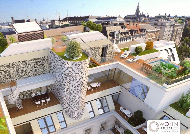 Moderne Dachwohnung (ohne Dachschrägen) mit Balkon im PALAIS KOLIN - 1090 WIEN