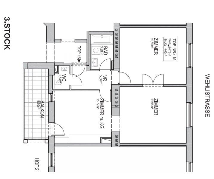 ++NEU++ Generalsanierter 3-Zimmer Altbau-Erstbezug mit Balkon, sehr guter Grundriss! /  / 1200Wien / Bild 18