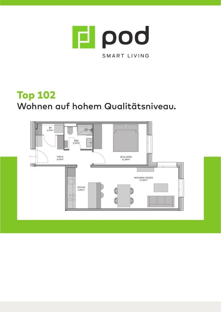 Wohnungsplan Top 102