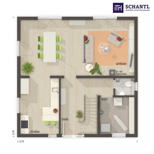 ITH #WOW! Leistbares Einfamilienhaus mit Südausrichtung und Fernblick + 4 Zimmer + 5 Jahre Gewährleistung + Fertigstellungsgarantie inklusive!!! /  / 8551Wies / Bild 1