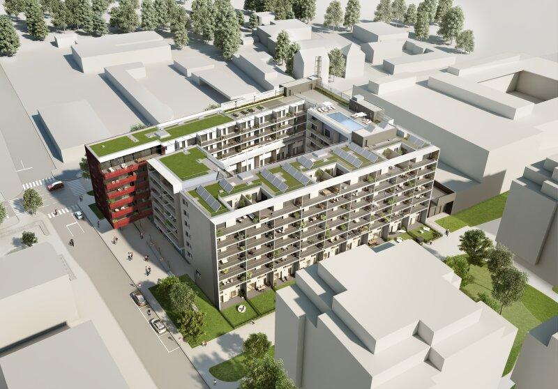 ERSTBEZUG & UNBEFRISTET: Großzügige 2-Zimmer-Wohnung im 5. Stock mit Innenhof-Loggia und Gemeinschafts-POOL am Dach - PROVISIONSFREI /  / 1230Wien / Bild 8