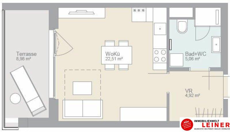 Willkommen im Kaisergarten - 1-Zimmer Wohnung, 1110 Wien Objekt_11421 Bild_348