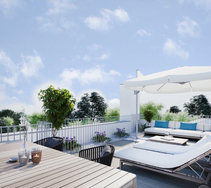 Dachgeschoß-Wohnung mit privater Grün-Ruhe-Oase