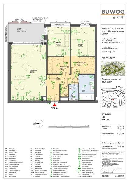 Helle DG-Neubau-Wohnung ohne Dachschrägen /  / 1120Wien / Bild 4