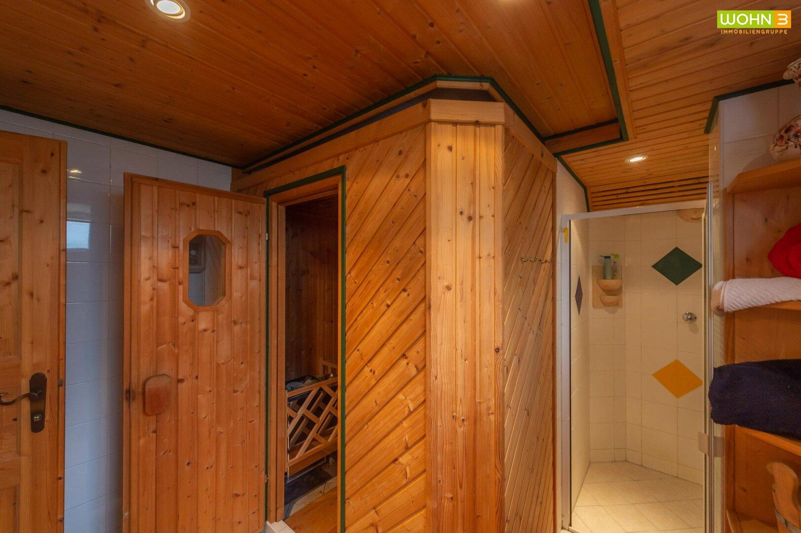 Saunabereich im Kellergeschoß
