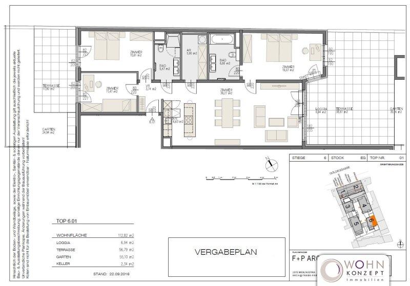 Goldegg Gardens: 120m² Gartenwohnung + 57m² Terrasse - 1040 Wien /  / 1040Wien / Bild 10