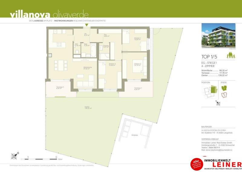 *UNBEFRISTET*Schwechat - 4 Zimmer Mietwohnung mit 140 m² großem Garten und Terrasse Objekt_9163 Bild_881