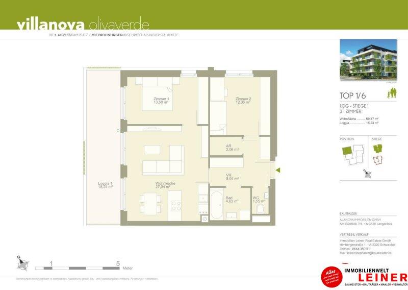 *UNBEFRISTET*Mietwohnung Schwechat - 3 Zimmer im Erstbezug mit ca. 19 m² großer Terrasse Objekt_8647 Bild_158