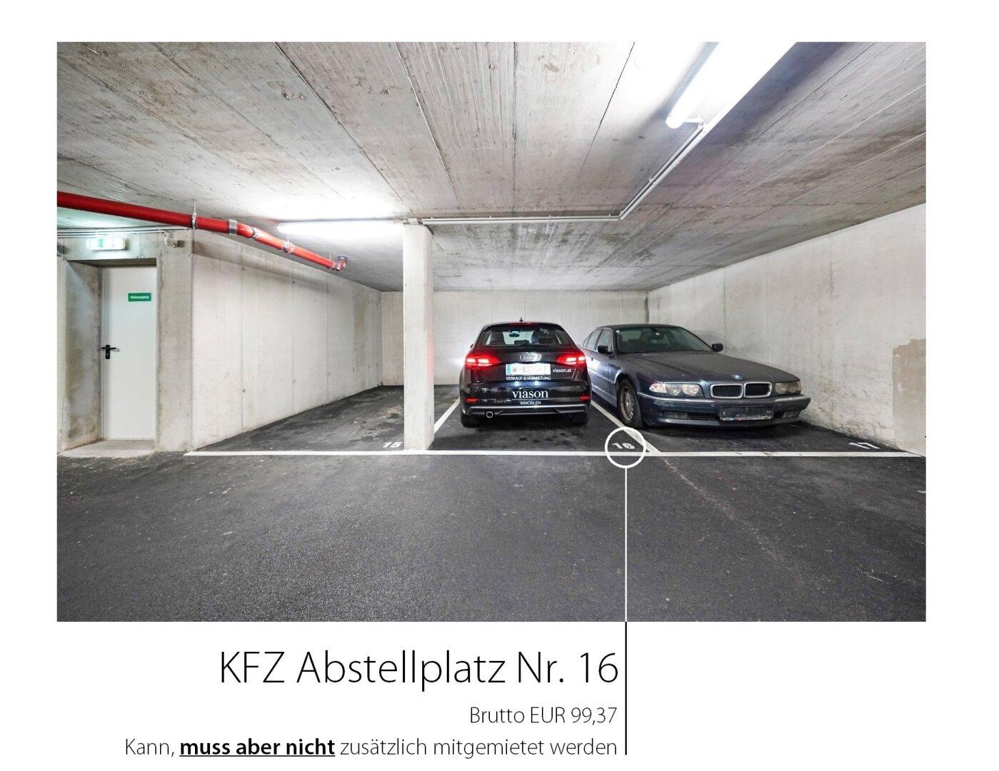 KFZ - Abstellplatz Nr. 16