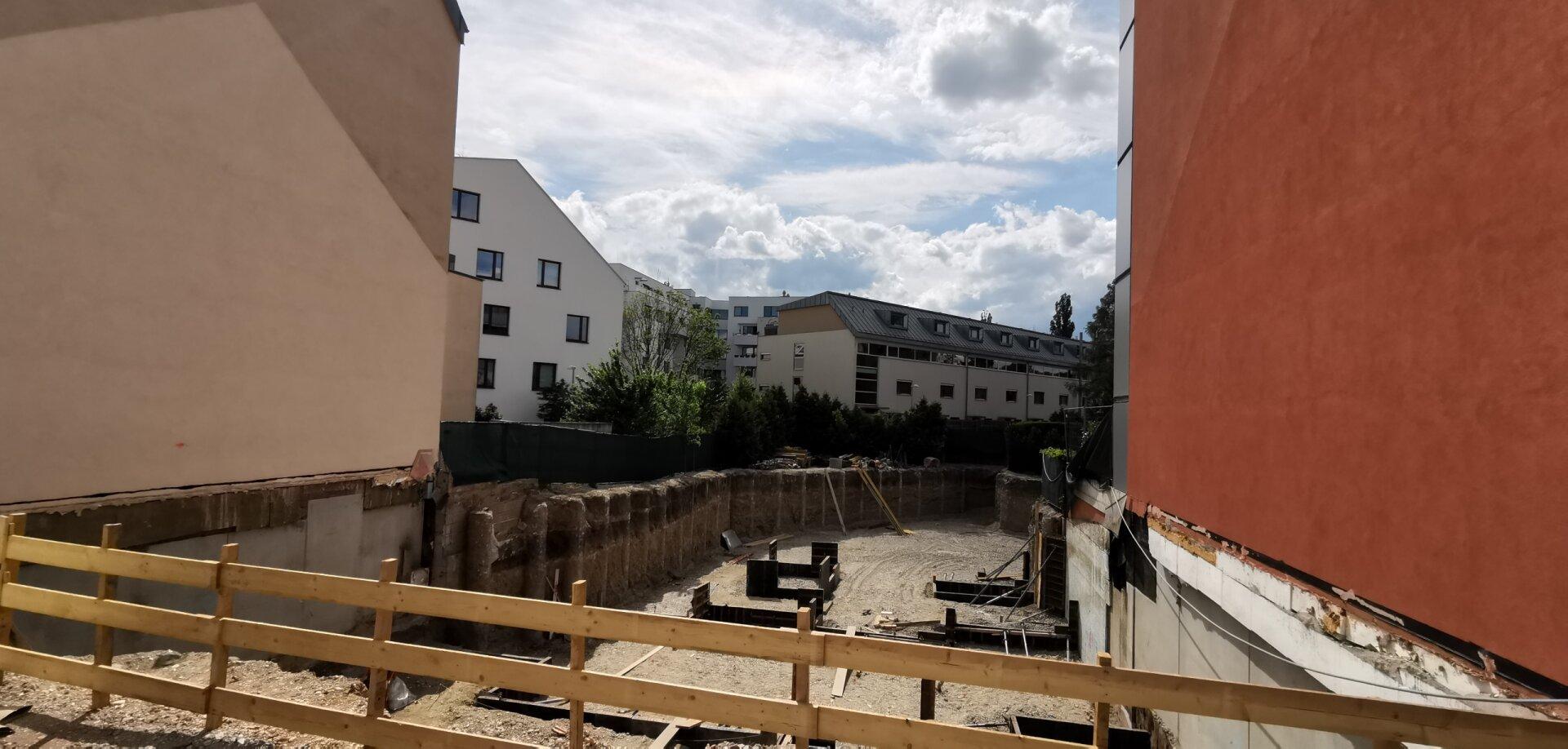 Baugrube Sicht Weilandgasse 5