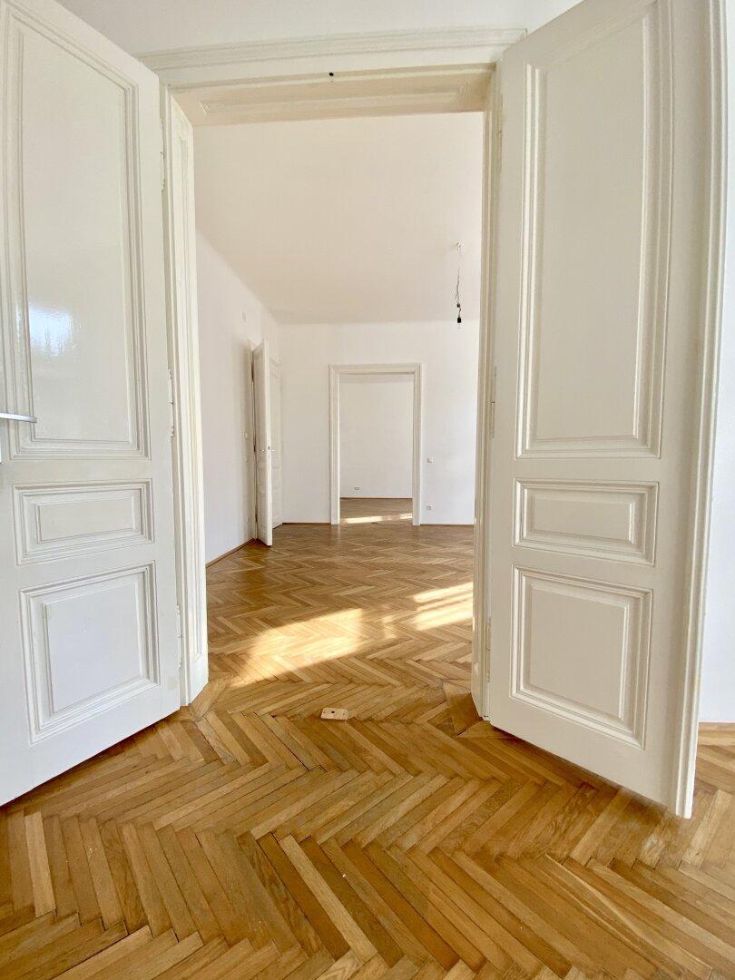 Blick auf alle 3 Zimmer von Zimmer 3