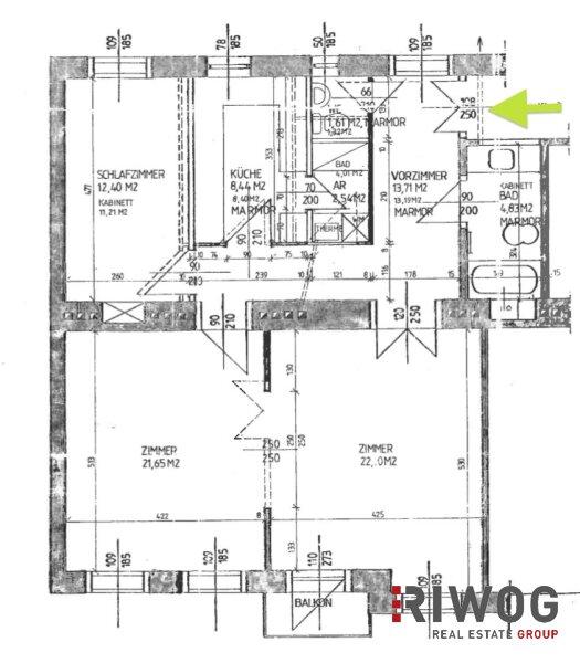 Möblierte 3 Zimmer ALTBAUWOHNUNG mit kleinem BALKON, schönes Haus, gute Lage /  / 1180Wien / Bild 18