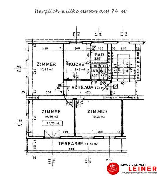 Herzlich Willkommen auf 74m² - 3 Zimmer Mietwohnung mit klasse Terrasse und Stellplatz in Schwechat! Objekt_10075 Bild_805