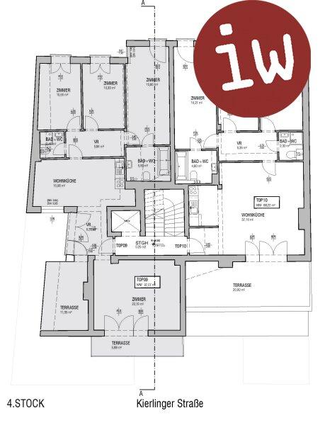 neuwertige 5 Zimmerwohnung mit 2 Terrassen und Stiftsblick Objekt_455 Bild_365
