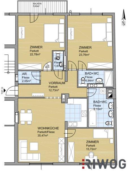 ** AUGARTEN-NEUHEIT ** 4-Zimmer FAMILIENWOHNUNG mit Balkon und hochwertiger Ausstattung ** Erstbezug ** /  / 1020Wien / Bild 2