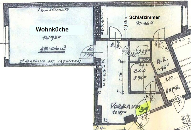 NEUBAUWOHNUNG im  8. Bezirk  Nähe U6! 7. Liftstock (angemessen vermietbar) /  / 1080Wien / Bild 7