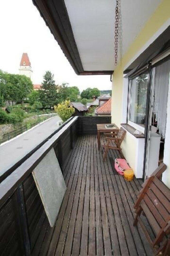 Balkon, Blickrichtung Burgfried