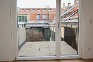Erstbezug: Klimatisierte Ruheoase - 3-Zimmer Wohnung mit schönem Balkon in den Innenhof