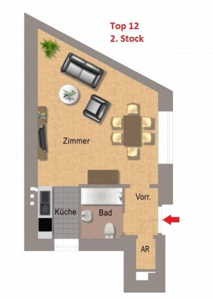 ERSTBEZUG - 1 Zimmer ALTBAU top saniert  -  1030 Wien - 2. OG Top 12 ---- U Bahn Nähe - ZIMMER HOFSEITIG /  / 1030Wien / Bild 9