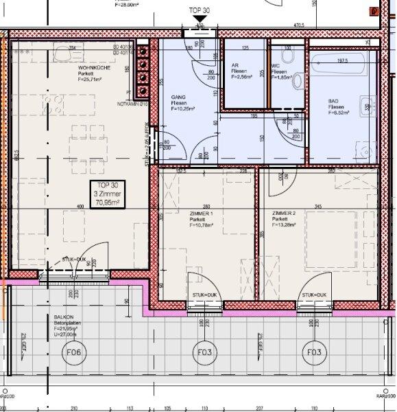 Top 30 - Freifinanzierte 3 Zimmer Wohnung mit Dachterrasse - MIETEN oder MIETKAUF /  / 2700Wiener Neustadt / Bild 4