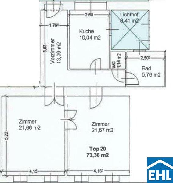 Großzügige 2 Zimmer-Altbauwohnung Nähe Augarten /  / 1200Wien / Bild 1