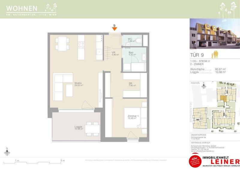 Erstbezug, 2 Zimmer Eigentumswohnung- Pärchentraum in der wunderschönen Sellingergasse Objekt_12088 Bild_666