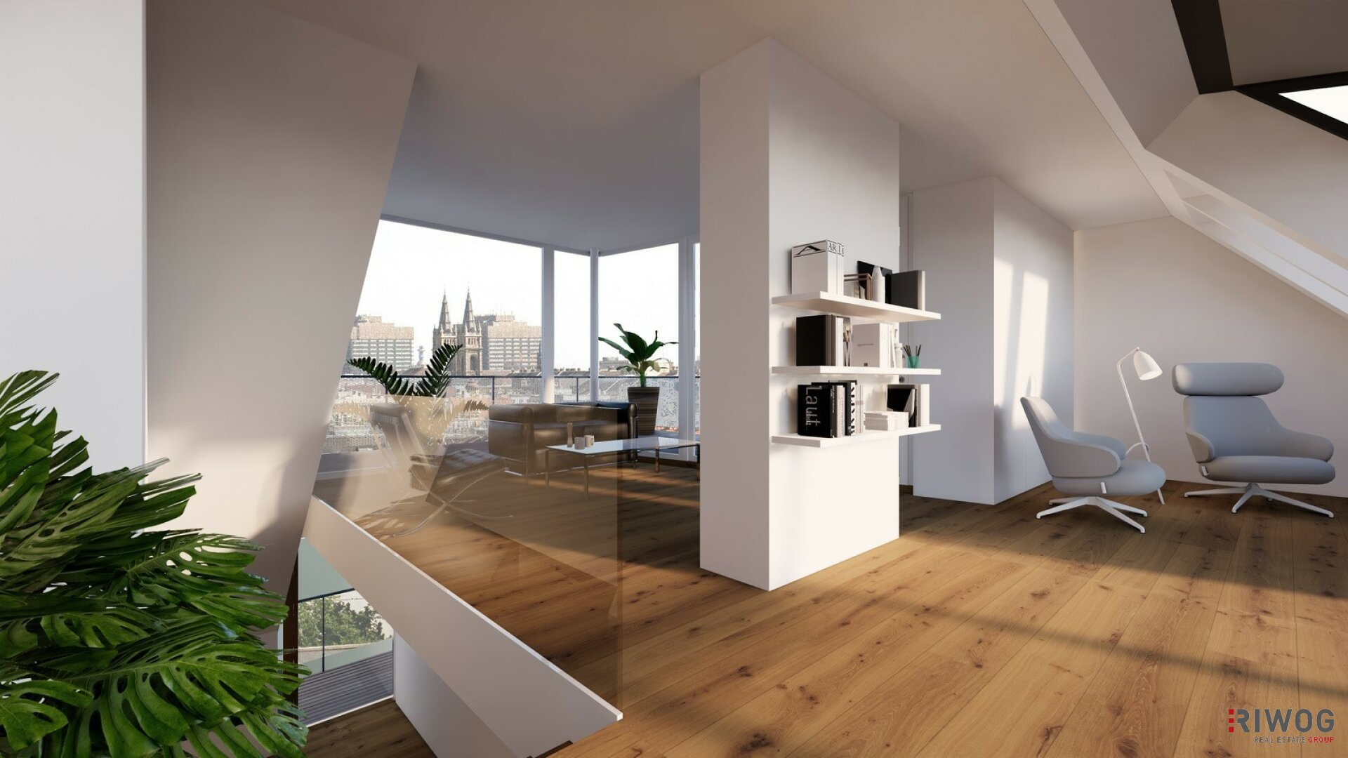 Ein unvergleichbarer Ausblick   Dachgeschoß-Wohnungen mit herausragendem Blick über die Wiener Innenstadt (Projektansicht)