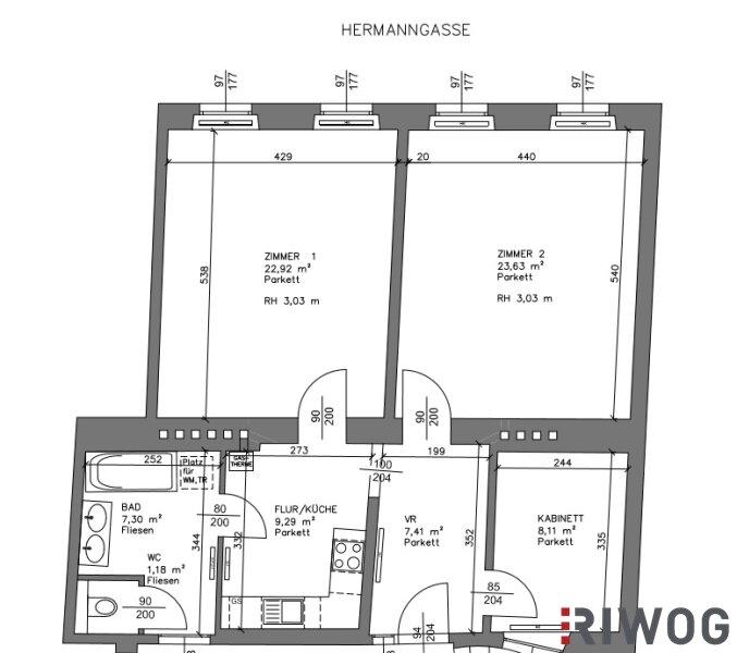 ERSTBEZUG nach Topsanierung|WG-geeignet|2 Zimmer|Altbau /  / 1070Wien / Bild 7